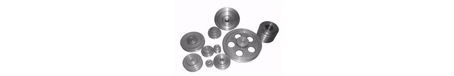 Poleas de aluminio para motores electricos y multiproposito