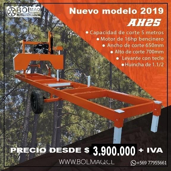 OFERTA ASERRADERO MOTOR BENCINERO 15HP
